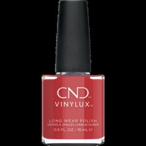 Smuk efterårs rød neglelak fra CND Vinylux. Denne røde er en støvet rød med noter af terracotta