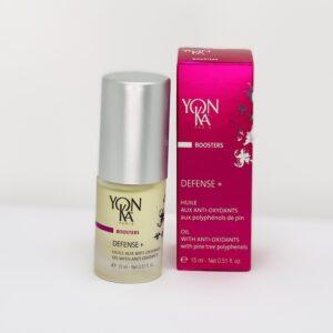 Yonka Defense+ booster en en blid og nærende olie, der beskytter din hud mod udtørring.