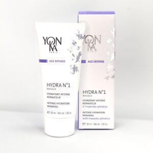 Yonka hydra no 1 masque er en intens fugtmaske i crem-gel konsistens velegnet til dehydreret, tør og beskadiget hud i ansigtet.